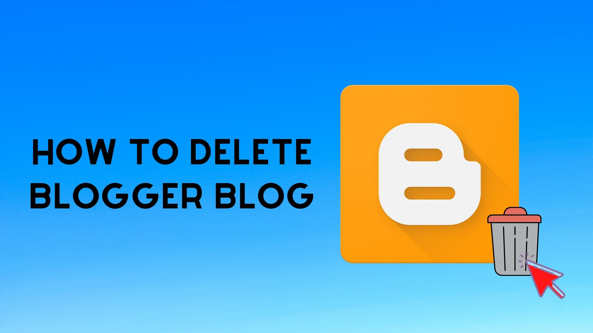 How to delete blog